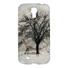 Snow Snowfall New Year S Day Samsung Galaxy S4 I9500/i9505 Hardshell Case