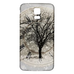 Snow Snowfall New Year S Day Samsung Galaxy S5 Back Case (white) by BangZart