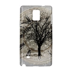 Snow Snowfall New Year S Day Samsung Galaxy Note 4 Hardshell Case by BangZart
