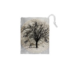 Snow Snowfall New Year S Day Drawstring Pouches (xs)