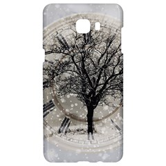 Snow Snowfall New Year S Day Samsung C9 Pro Hardshell Case
