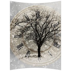 Snow Snowfall New Year S Day Back Support Cushion