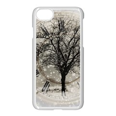 Snow Snowfall New Year S Day Apple Iphone 8 Seamless Case (white) by BangZart