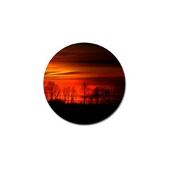 Tree Series Sun Orange Sunset Golf Ball Marker (4 Pack)