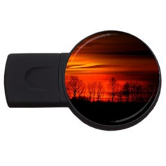 Tree Series Sun Orange Sunset Usb Flash Drive Round (2 Gb)