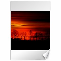 Tree Series Sun Orange Sunset Canvas 24  X 36