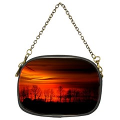 Tree Series Sun Orange Sunset Chain Purses (two Sides)  by BangZart