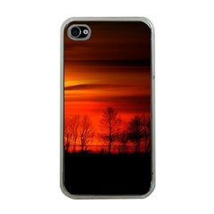 Tree Series Sun Orange Sunset Apple Iphone 4 Case (clear) by BangZart