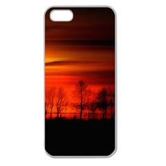 Tree Series Sun Orange Sunset Apple Seamless Iphone 5 Case (clear) by BangZart