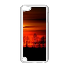Tree Series Sun Orange Sunset Apple Ipod Touch 5 Case (white)