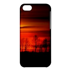 Tree Series Sun Orange Sunset Apple Iphone 5c Hardshell Case by BangZart