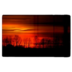 Tree Series Sun Orange Sunset Apple Ipad Pro 9 7   Flip Case