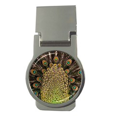 Peacock Feathers Wheel Plumage Money Clips (round)