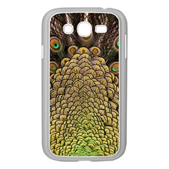 Peacock Feathers Wheel Plumage Samsung Galaxy Grand Duos I9082 Case (white) by BangZart