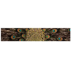 Peacock Feathers Wheel Plumage Large Flano Scarf
