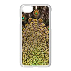 Peacock Feathers Wheel Plumage Apple Iphone 8 Seamless Case (white)