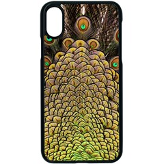 Peacock Feathers Wheel Plumage Apple Iphone X Seamless Case (black)