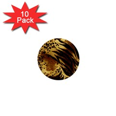 Pattern Tiger Stripes Print Animal 1  Mini Buttons (10 Pack)  by BangZart