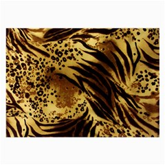 Pattern Tiger Stripes Print Animal Large Glasses Cloth (2 Side) by BangZart