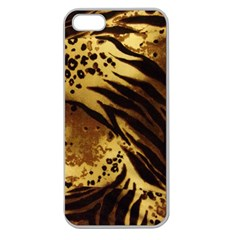 Pattern Tiger Stripes Print Animal Apple Seamless Iphone 5 Case (clear)