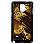 Pattern Tiger Stripes Print Animal Samsung Galaxy Note 4 Case (Black) Front