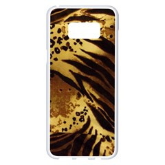 Pattern Tiger Stripes Print Animal Samsung Galaxy S8 Plus White Seamless Case by BangZart