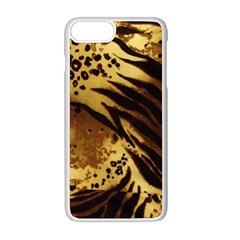 Pattern Tiger Stripes Print Animal Apple Iphone 8 Plus Seamless Case (white)