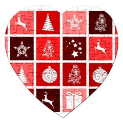 Christmas Map Innovative Modern Jigsaw Puzzle (heart) by BangZart