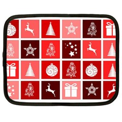 Christmas Map Innovative Modern Netbook Case (large) by BangZart