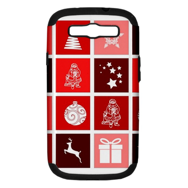 Christmas Map Innovative Modern Samsung Galaxy S III Hardshell Case (PC+Silicone)
