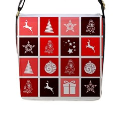 Christmas Map Innovative Modern Flap Messenger Bag (l)  by BangZart