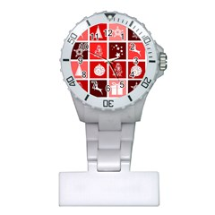 Christmas Map Innovative Modern Plastic Nurses Watch by BangZart