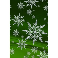 Christmas Star Ice Crystal Green Background 5 5  X 8 5  Notebooks by BangZart