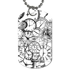 Time Clock Watches Time Of Dog Tag (one Side) by BangZart