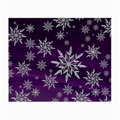 Christmas Star Ice Crystal Purple Background Small Glasses Cloth