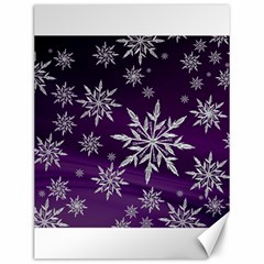 Christmas Star Ice Crystal Purple Background Canvas 12  X 16   by BangZart