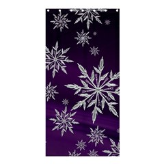 Christmas Star Ice Crystal Purple Background Shower Curtain 36  X 72  (stall)  by BangZart