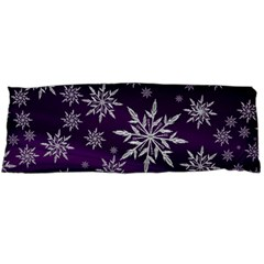 Christmas Star Ice Crystal Purple Background Body Pillow Case Dakimakura (two Sides) by BangZart