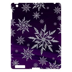 Christmas Star Ice Crystal Purple Background Apple Ipad 3/4 Hardshell Case by BangZart