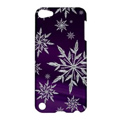 Christmas Star Ice Crystal Purple Background Apple Ipod Touch 5 Hardshell Case by BangZart
