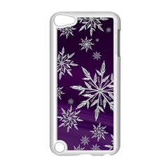 Christmas Star Ice Crystal Purple Background Apple Ipod Touch 5 Case (white)