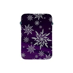 Christmas Star Ice Crystal Purple Background Apple Ipad Mini Protective Soft Cases