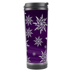 Christmas Star Ice Crystal Purple Background Travel Tumbler by BangZart