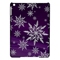 Christmas Star Ice Crystal Purple Background Ipad Air Hardshell Cases by BangZart