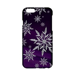 Christmas Star Ice Crystal Purple Background Apple Iphone 6/6s Hardshell Case by BangZart