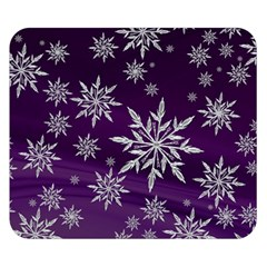 Christmas Star Ice Crystal Purple Background Double Sided Flano Blanket (small)  by BangZart