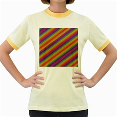 Spectrum Psychedelic Women s Fitted Ringer T Shirts