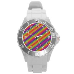 Spectrum Psychedelic Round Plastic Sport Watch (l) by BangZart