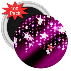 Background Christmas Star Advent 3  Magnets (100 Pack)