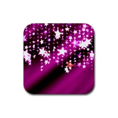 Background Christmas Star Advent Rubber Square Coaster (4 Pack)